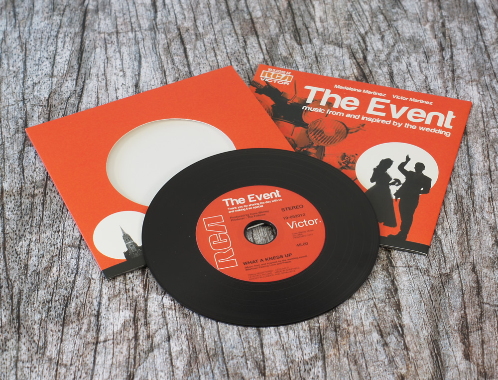 Vinyl Wedding Cds In Record Style Wallets
