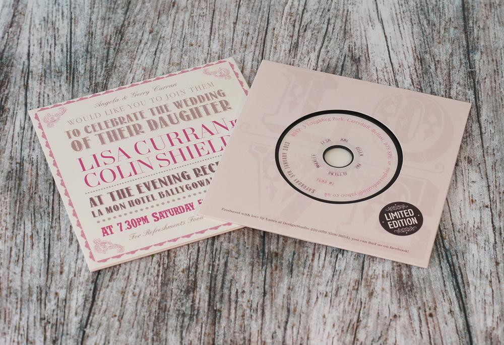 Record Wedding Invitations: Wedding Invitation CDs And Wedding Favour CDs