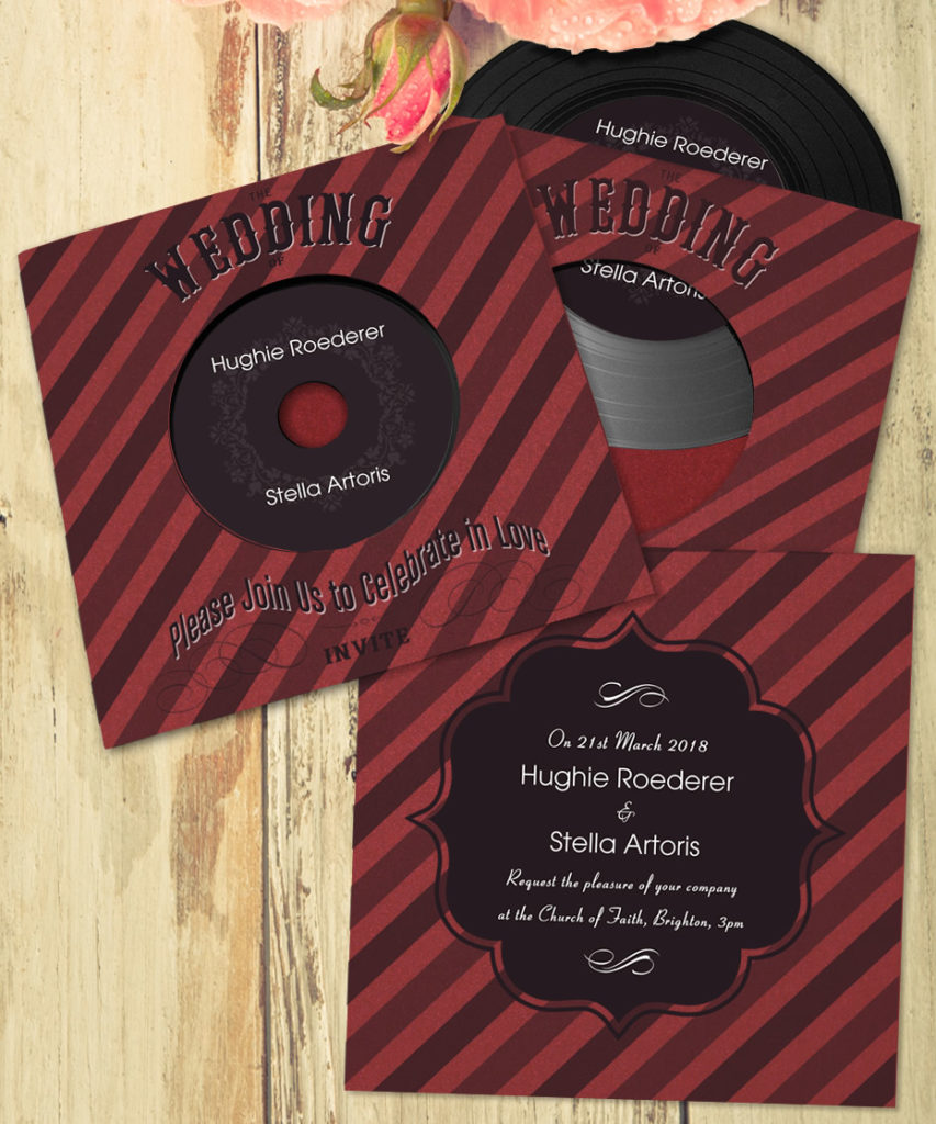 Vinyl Wedding CDs in Pre-Designed Templates - Wedding CDs